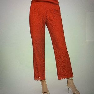 NWT J Crew Peyton Pull-On Red Lace Pants. 4T
